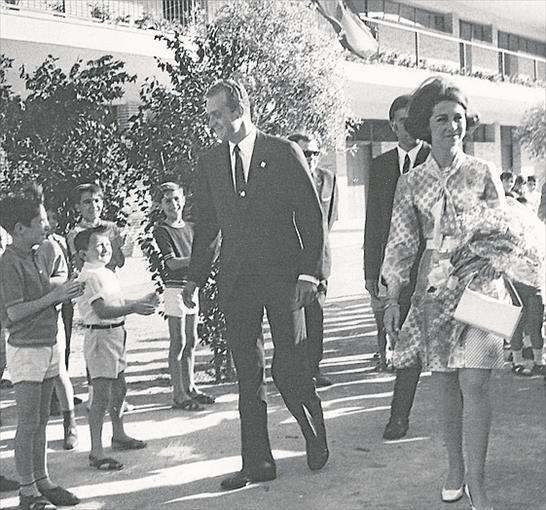 inauguración del Parque Figueroa por los Príncipes de España Juan Carlos de Borbón y Sofía de Grecia